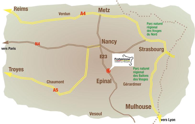 Carte routière accès Chatel
