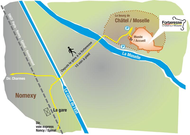 Plan accès Chatel